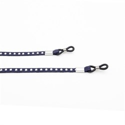 Spectacle Holders with rivets, dark blue 3 pcs. 70cm