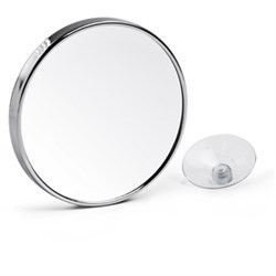 Suction mirror for cosmetics With 3 x magnification