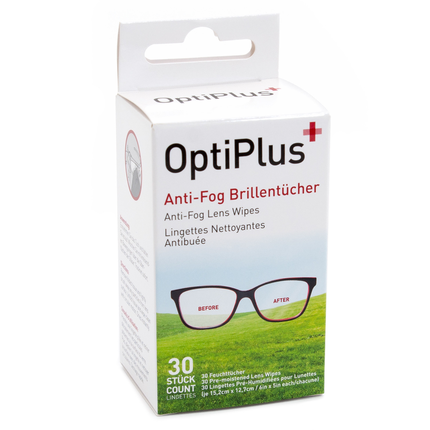 Optiplus Anti-Fog wipes 30pcs, minimum order 20 boxes (in steps of 20)