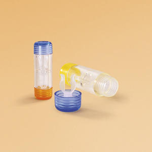 Contact lens cases for hard lenses