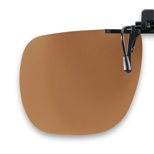 Polarized Flip up brown 65x56mm (75-80%) 3pcs