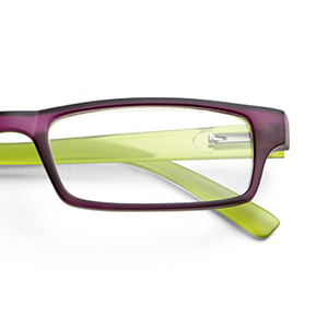 a7191d68756e Ready reader plastic Purple Green +1.5 + extra temples grey