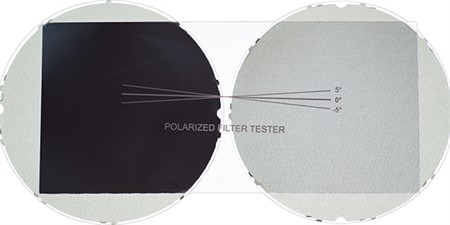 Polarized filter tester, 1 pc