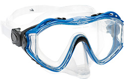 Leader Diving mask blue hyperallergenic silicone