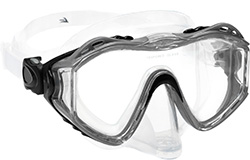 Leader Diving mask silver hyperallergenic silicone