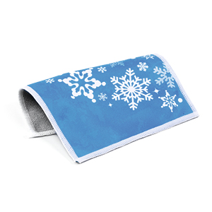 Microfibre cloth - Seasons  Snowflakes 15x18 5 pcs