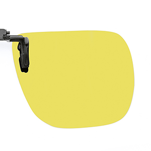 Polarised Flip Up Extra Slim 65x56mm, Yellow (35%) 1 pc