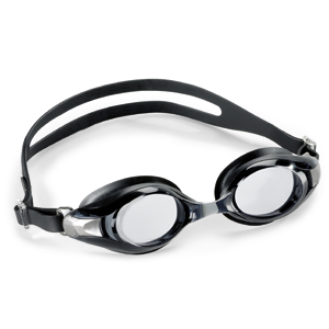 Swimming goggles Deluxe black Lens: smoke grey-with plano lenses