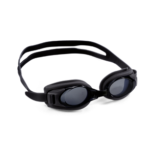 Swimming goggles black with plano lenses/correction lenses