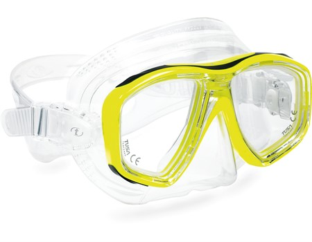 Diving mask for professionals, yellow