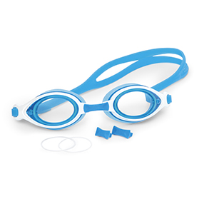 KIDS swimming goggle blue/white - glazable