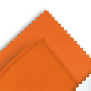 Microfibre cloth optilux Orange 10 x 15 cm ZIG-ZAG-CUT