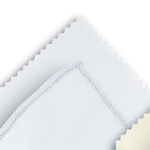 Microfibre cloth optilux White 10 x 15 cm ZIG-ZAG-CUT