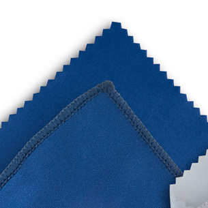 Microfibre cloth optilux Dark blue 12 x 16 cm ZIG-ZAG-CUT