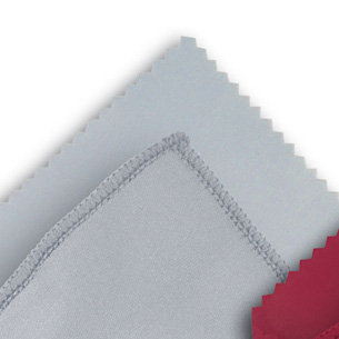 Microfibre cloth optilux Grey 12 x 16 cm ZIG-ZAG-CUT