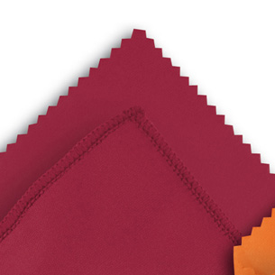 Microfibre cloth optilux Burgundy12 x 16 cm ZIG-ZAG-CUT