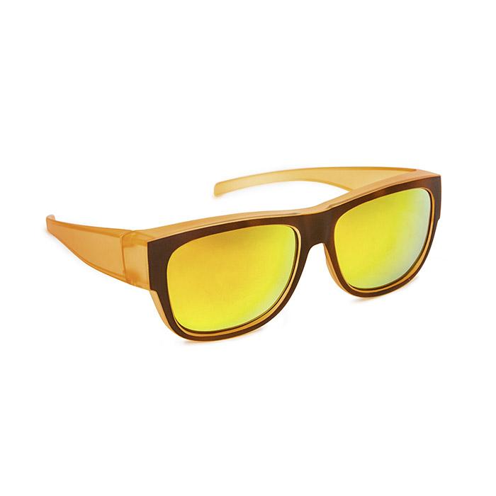 5d447c1ef149 Overspecs plastic orange brown 58-16 with revo coating